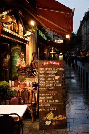 A Food Menu Outside a Restaurant in Paris, France