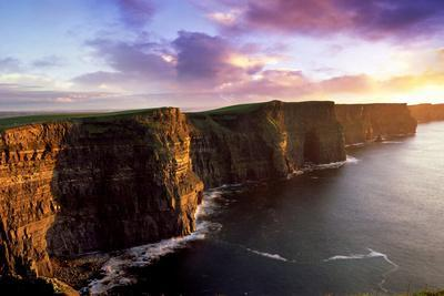 Sunset on the Cliffs of Moher, County Clare, Ireland