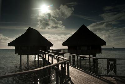 Cottages Above the Lagoon on the Island of Bora Bora