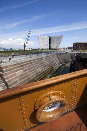 Titanic Belfast from the Nomadic Ship in Dry Dock