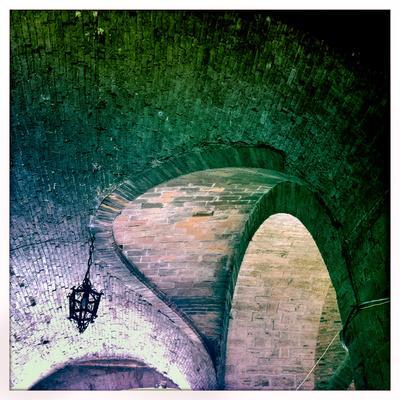 Arched Ceilings over a Walkway in Todi, Umbria, Italy