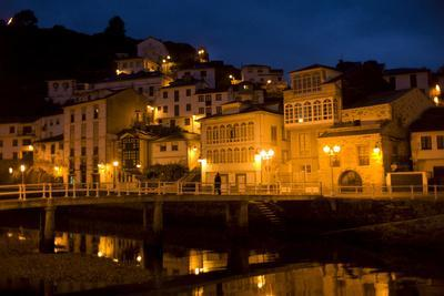 A Night View of Luarca, Spain