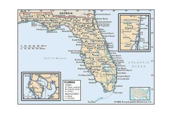 Political Map Of Florida Prints Allposters Com