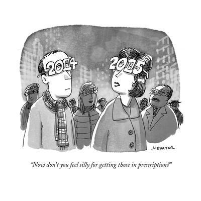 """""""Now don't you feel silly for getting those in prescription?"""" - Cartoon"""
