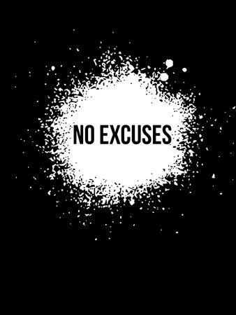 No Excuses Black