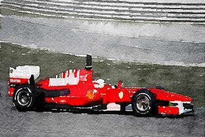 Ferrari F1 Racing Watercolor