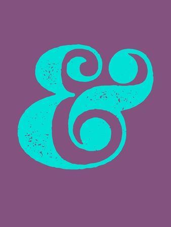 Ampersand Purple and Blue