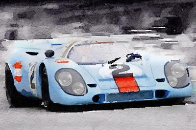Porsche 917 Gulf Watercolor