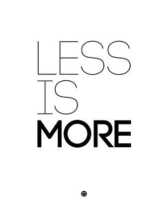Less Is More White