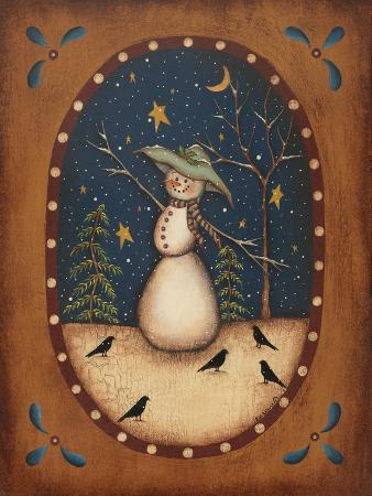 Snowman with Crow