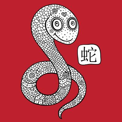 Chinese Zodiac. Animal Astrological Sign. Snake.