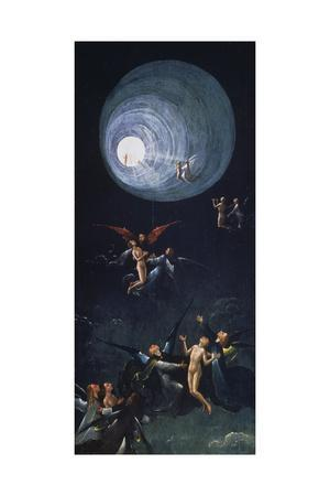 The Ascent into the Empyrean or Highest Heaven, Panel Depicting the Four Hereafter-Portrayals