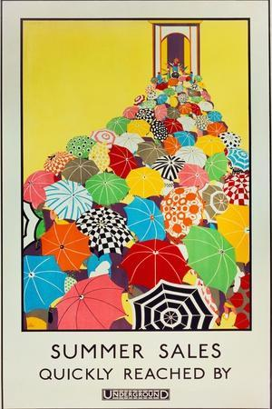 Summer Sales, Quickly Reached by Underground, 1925
