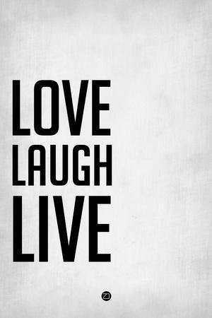 Love Laugh Live Grey