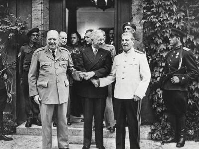 Joseph Stalin, Harry Truman, and Winston Churchill at the Potsdam Conference
