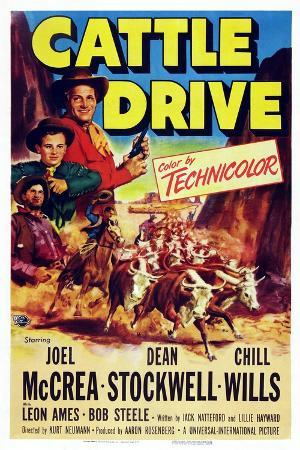 Cattle Drive, from Top Left: Joel Mccrea, Dean Stockwell, Chill Wills, 1951