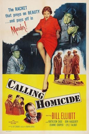 Calling Homicide, Top Left: Don Haggerty; Top Center: Kathleen Case; Bottom: Bill Elliott, 1956