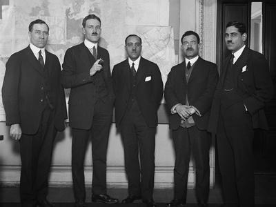 Allen Welsh Dulles (2nd from Left) as Chief of the Near East Division of the Department of State