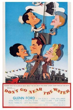 Don't Go Near the Water, Earl Holliman, Anne Francis, Gia Scala, Glenn Ford, Eva Gabor, 1957