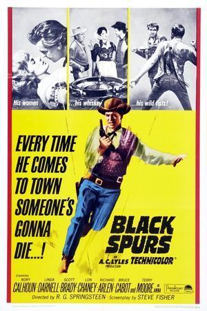 Black Spurs, Rory Calhoun, (Center), 1965