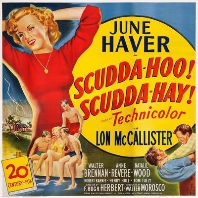 Scudda Hoo! Scudda Hay!, Left: June Haver, 1948