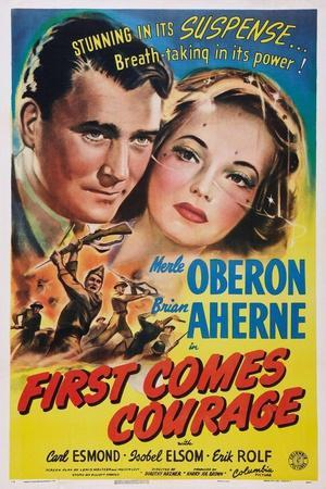 First Comes Courage, Brian Aherne, Merle Oberon, 1943