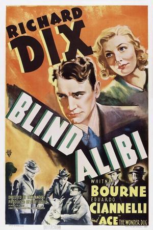 Blind Alibi, Top from Left: Richard Dix, Whitney Bourne, 1938