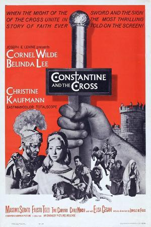 Constantine and the Cross, L-R: Cornel Wilde, Christine Kaufmann, 1961