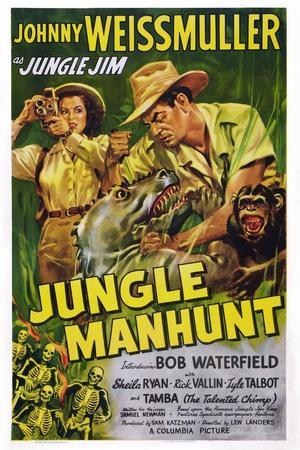 Jungle Manhunt, from Left, Sheila Ryan, Johnny Weissmuller, 1951