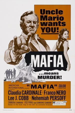 Mafia, from Left, Lee J. Cobb, Claudia Cardinale, 1968