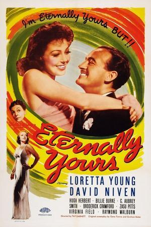 Eternally Yours, Virginia Field, Zasu Pitts, Loretta Young, David Niven, 1939