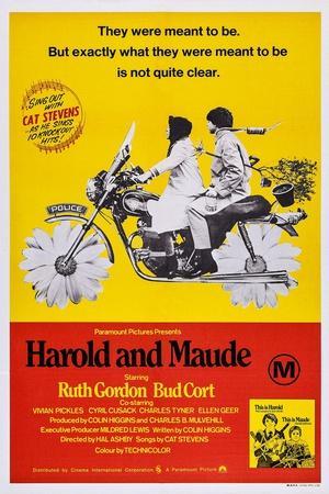 Harold and Maude, Ruth Gordon, Bud Cort, 1971