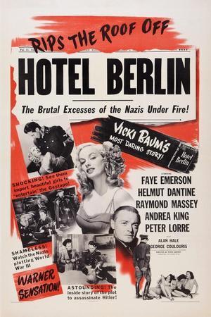 Hotel Berlin, Center: Faye Emerson; Below: Peter Lorre, 1945