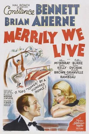 Merrily We Live, from Left: Brian Ahern, Constance Bennett, 1938
