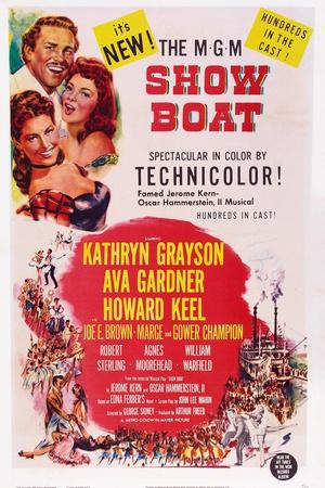Show Boat, from Top: Howard Keel, Ava Gardner, Kathryn Grayson, 1952