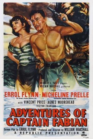 Adventures of Captain Fabian, from Left: Micheline Presle, Errol Flynn, 1951