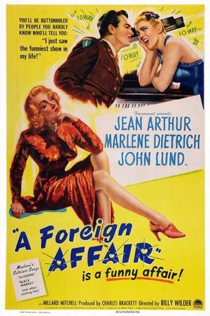 A Foreign Affair, Marlene Dietrich, John Lund, Jean Arthur, 1948