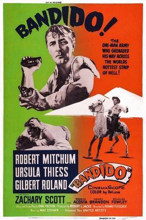 Bandido, Robert Mitchum, 1956