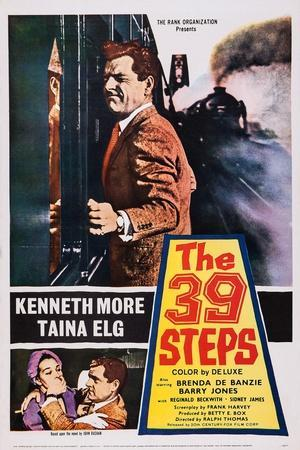 The 39 Steps, Kenneth More (Top), Bottom from Left: Taina Elg, Kenneth More, 1959