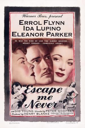 Escape Me Never, Ida Lupino, Errol Flynn, Eleanor Parker, 1947