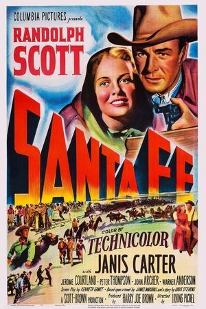 Santa Fe, Top from Left: Janis Carter, Randolph Scott, 1951