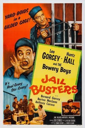 Jail Busters, Top L-R: Leo Gorcey, Huntz Hall, Bottom L-R: Huntz Hall, 1955