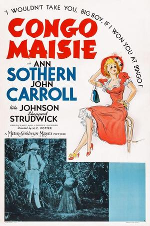 Congo Maisie, John Carroll, Ann Sothern, 1940