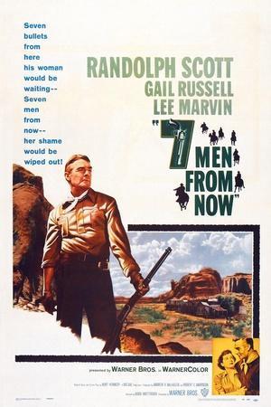 Seven Men from Now, (Aka 7 Men from Now), Left: Randolph Scott, 1956