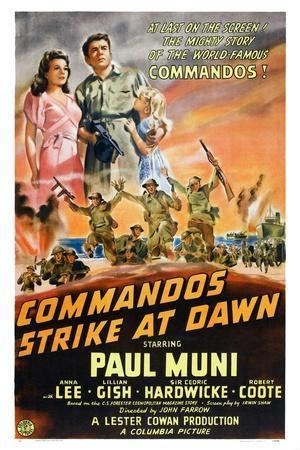 Commandos Strike at Dawn, Anna Lee, Paul Muni, 1942