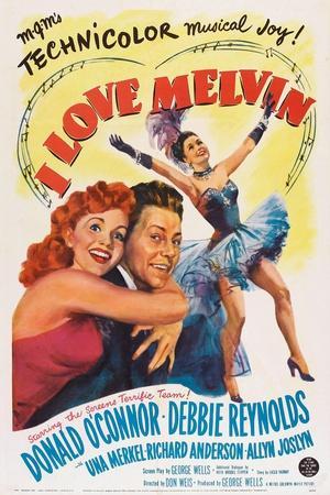 I Love Melvin, L-R: Debbie Reynolds, Donald O'Connor, Debbie Reynolds, 1953