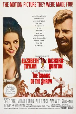The Taming of the Shrew, from Left: Elizabeth Taylor, Richard Burton, 1967