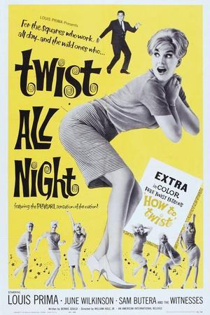 Twist All Night, (Aka the Continental Twist), from Top: Louis Prima, June Wilkinson, 1961