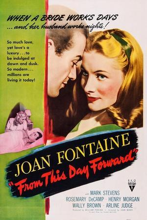 From This Day Forward, from Left: Mark Stevens, Joan Fontaine, 1946