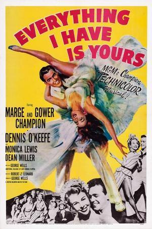 Everything I Have Is Yours, Gower Champion, Marge Champion, 1952